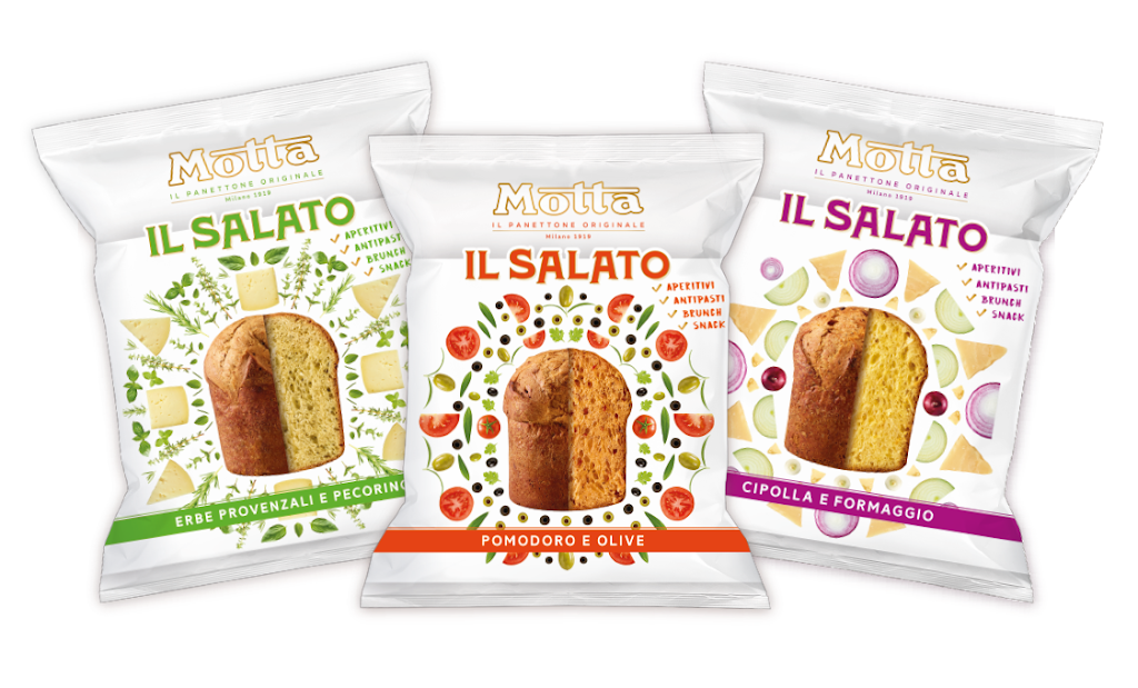 Motta ed il Panettoncino salato: L'azienda lancia una linea prodotto